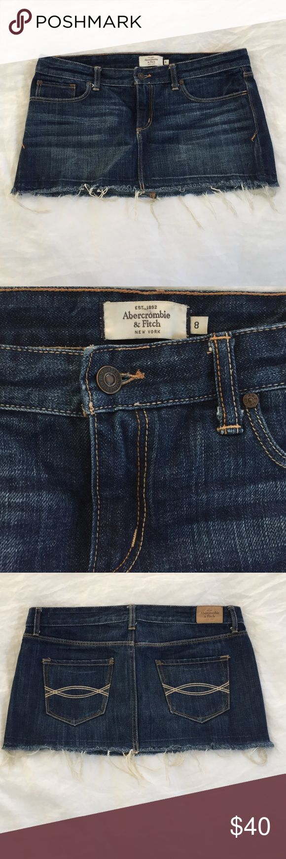 Abercrombie & Fitch jean skirt Abercrombie & Fitch denim skirt - lightly worn Abercrombie & Fitch Skirts Mini