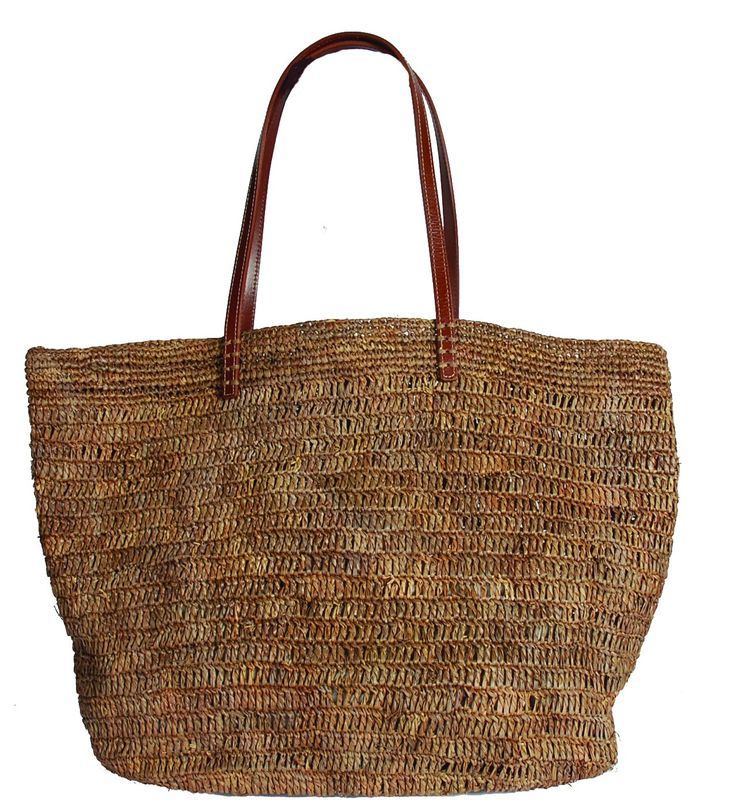 Hat Attack Ibiza Unlined Tote in Taupe at Pesca Boutique. - Price: $110.00