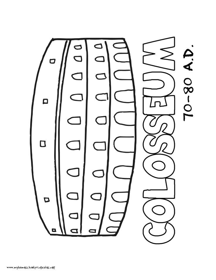 Coloring Colosseum Dozens History Pages Printables World