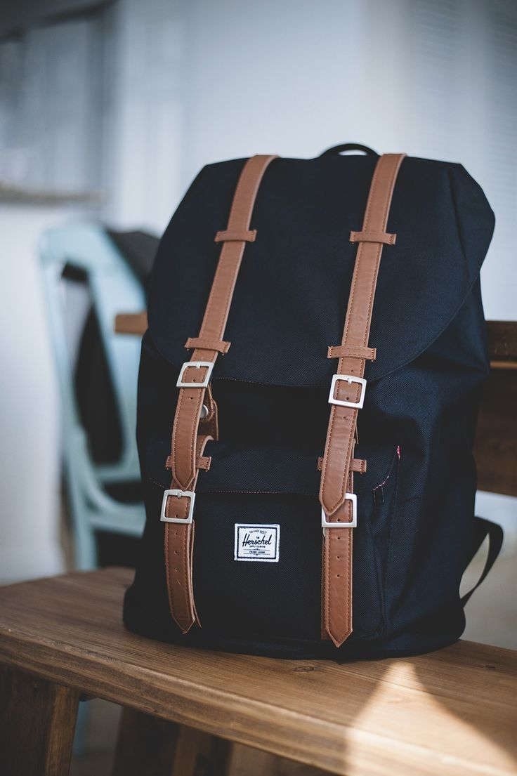 Mid Size Herschel Little America Backpack in Navy or Black (can't decide).. For Iceland: