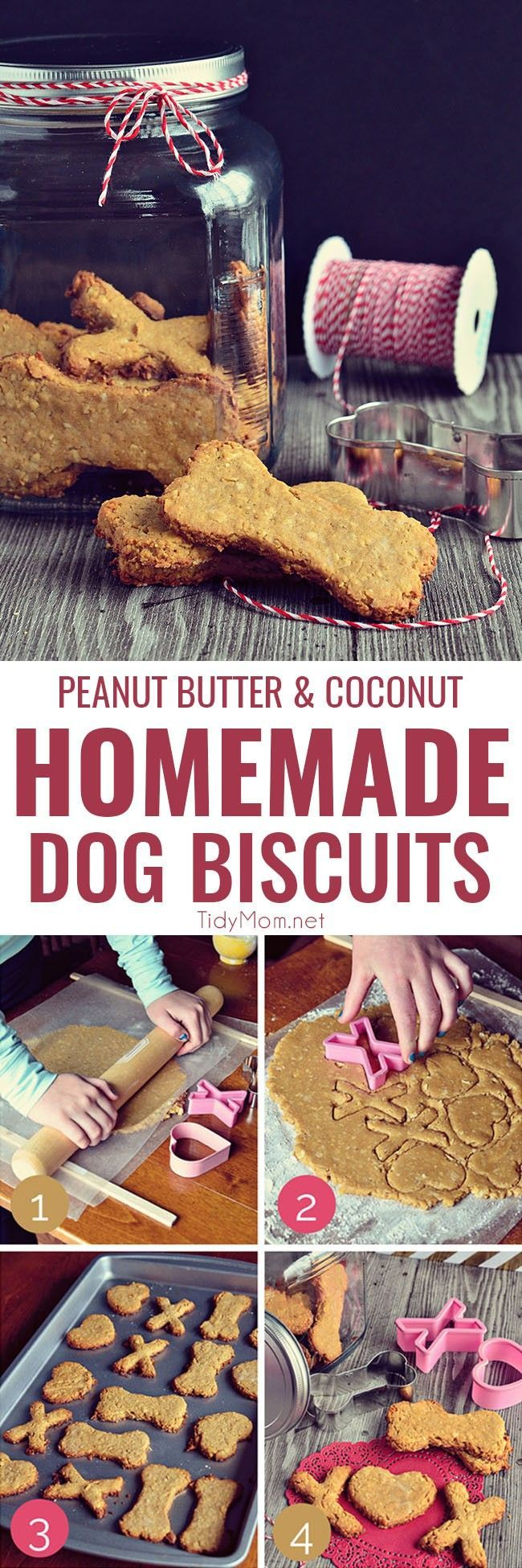 Good Gifts For Dog Lovers Part - 42: Homemade Peanut Butter Dog Biscuits