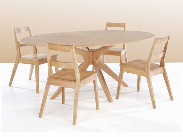 Large Oval Table Solid White Oak 190cm