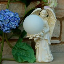 Solar Angel with Color Changing Globe Add this enchanted beauty solar angel to your garden, landscape or patio, powered by the sun this solar angel with color changing globe will illuminate shimmering spectrum of light at night. http://www.mysolarshop.com/solar-angel-globe