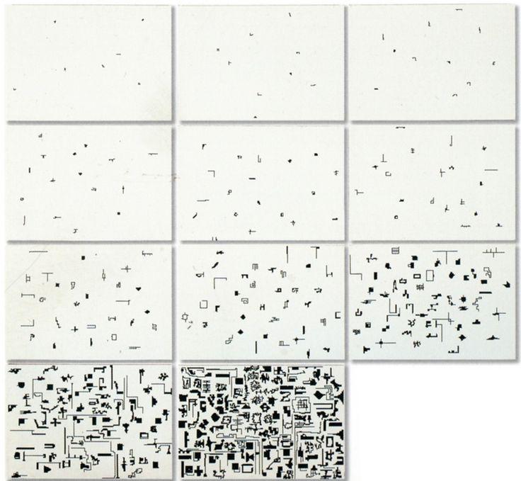 Alighiero Boetti, Storia naturale della moltiplicazione, 1975, inchiostro su carta quadrettata, 70x100 cad