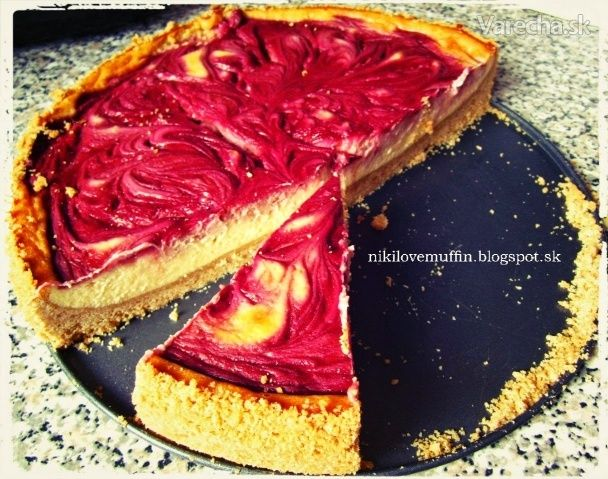 Cheesecake s malinovým vírom (fotorecept) - Recept