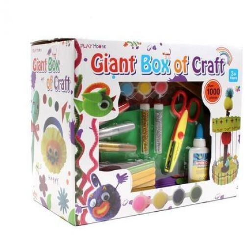 Giant Craft Box 1000 Pieces Art Materials Fabrics Papers Children Boys Girls Kit