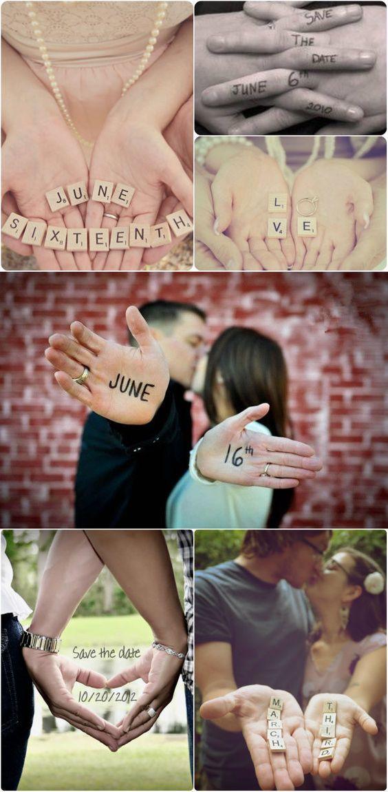"""Creative """"Save the date"""" pictures #verlobung #ankündigung #hochzeit"""