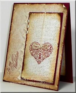 Be My Valentine  stamps: Elegant Valentine  created by: melissa cash