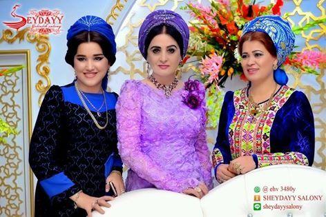Türkmenistan Türkmenleri Düğün Giysileri Çalışmaları - Günlük Giysiler Yeni Moda