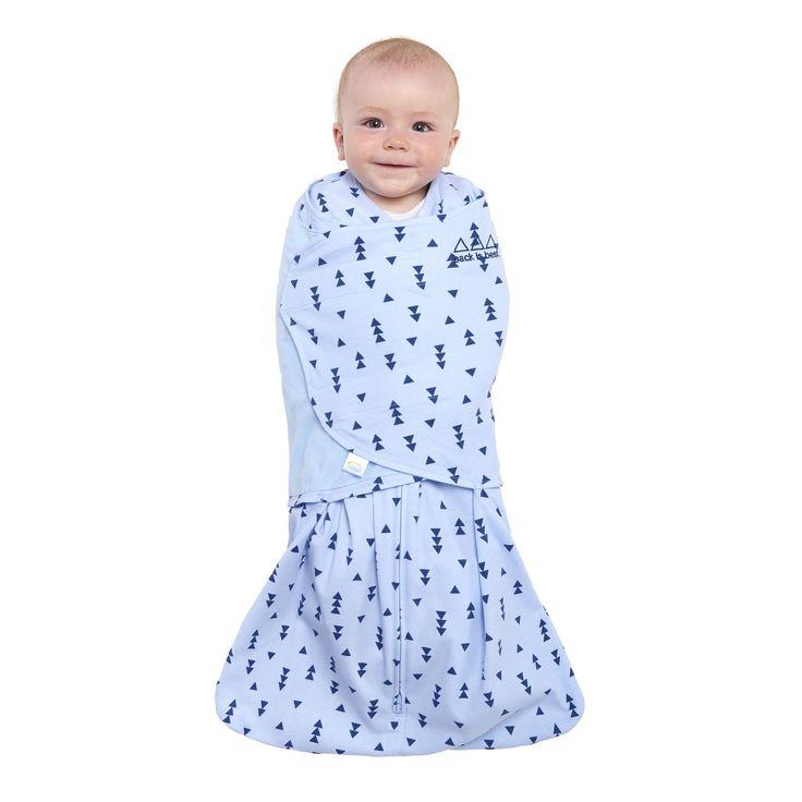 HALO SleepSack Swaddle 100% Cotton- Denim Triangle