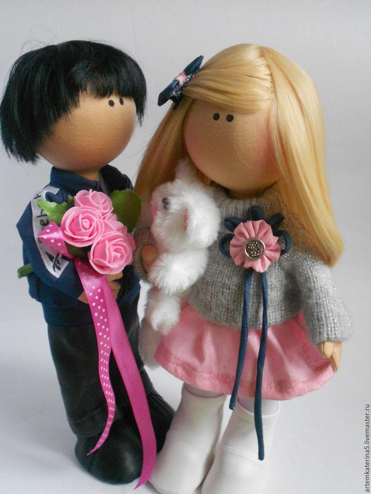 Купить Кукольная пара. Медовый месяц)) - комбинированный, кукла ручной работы, подарок на любой случай