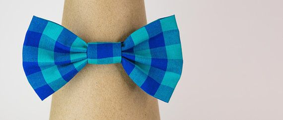 headband toddler bow matching bows non slip clip plaid bow Blue and Teal Plaid Fabric Bows girl bows newborn pigtail bows