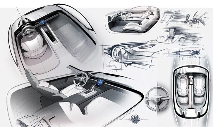 volvo concept coup sketch pinterest volvo interior sketch and. Black Bedroom Furniture Sets. Home Design Ideas