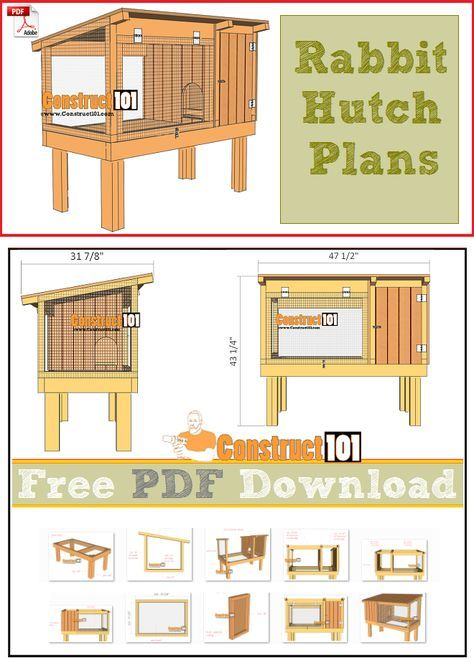 rabbit hutch plans pdf download