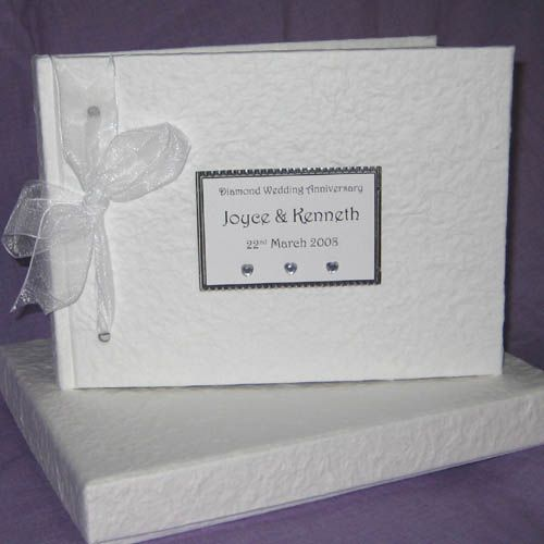 Diamond Wedding Anniversary guest book - £29.95