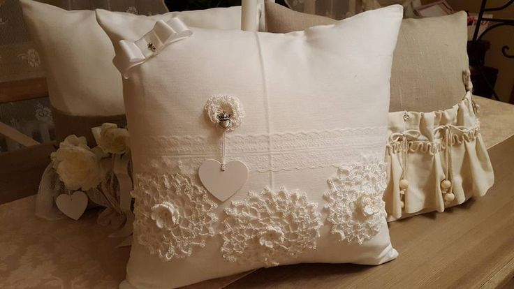 Blanc coussin decoratif 40 cm/40cm