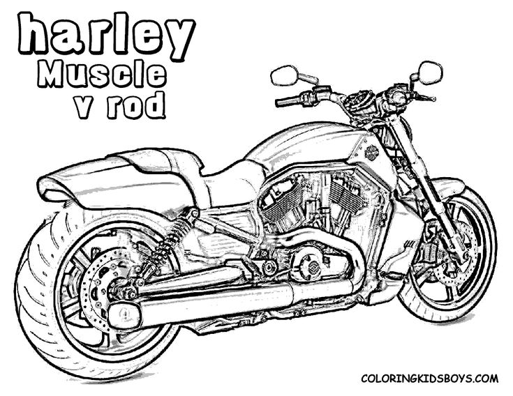 harley 41 v rod muscle coloring pages book - Colouring Pages Of Books