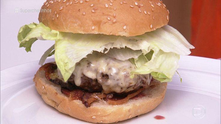 Hambúrguer do Chef Paulo Yoller | Carnes > Receitas de Hambúrguer | Mais Você - Receitas Gshow