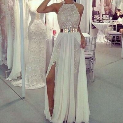 Halter Prom Dress,Lace Prom Dress,A-Line Prom Dress,Long Prom Dress,Elegant Prom…