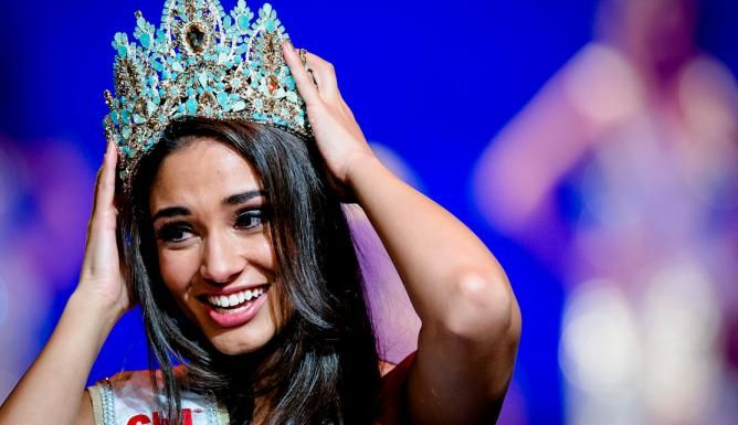 Tatjana Maul, Miss World Netherlands. With BaroQco Crown.