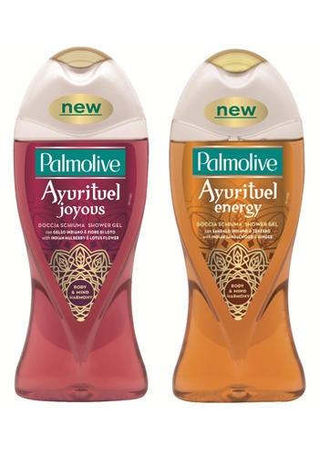 Docciaschiuma (250 ml) e Bagnoschiuma (500 ml) delle linee Ayurituel, Palmolive (2,18 € e 3,12 €)