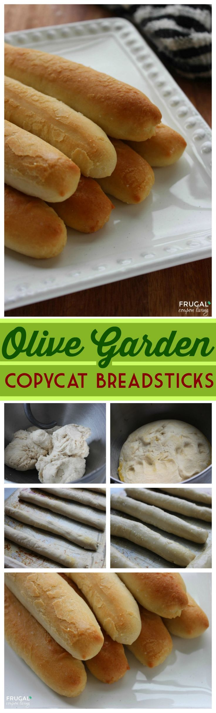 Absolutely delicious Olive Garden Bread Sticks Recipe on Frugal Coupon Living plus more copycat recipes!