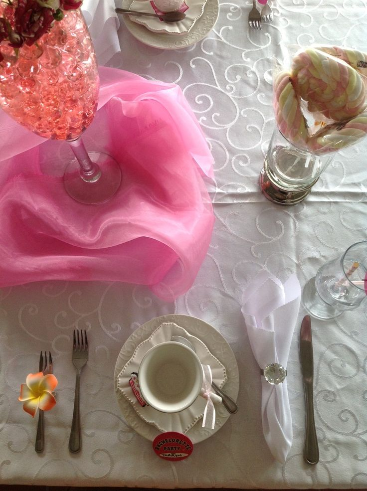 Table setting at High Tea