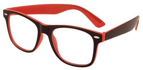 Nerd bril rood/zwart zonder sterkte - Nerd brillen €4,99