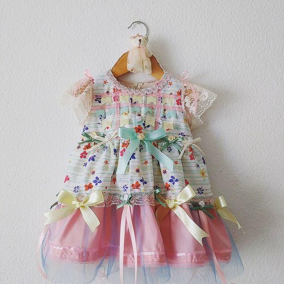 vestido Arraiá Bebê R$ 203,00