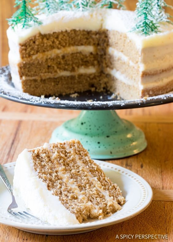 Best Cinnamon Dolce Latte Cake with Mascarpone Frosting: