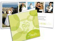 Dankeskarten - Wir haben geheiratet - mit Strichmännchen Comic