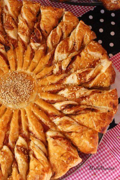 Tarte soleil jambon fromage