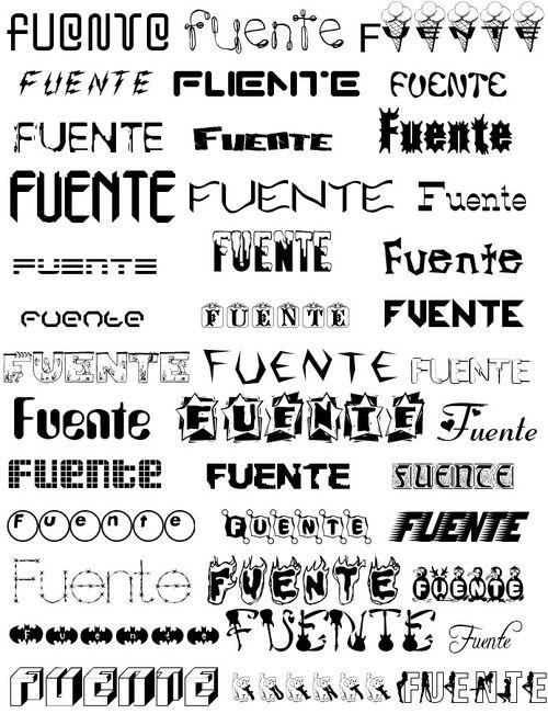 Resultado de imagen para tipos de letras tumblr