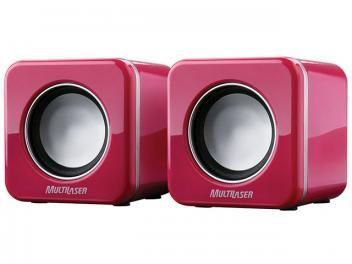 Caixa de Som 2 watts x 2 RMS USB - Multilaser SP103