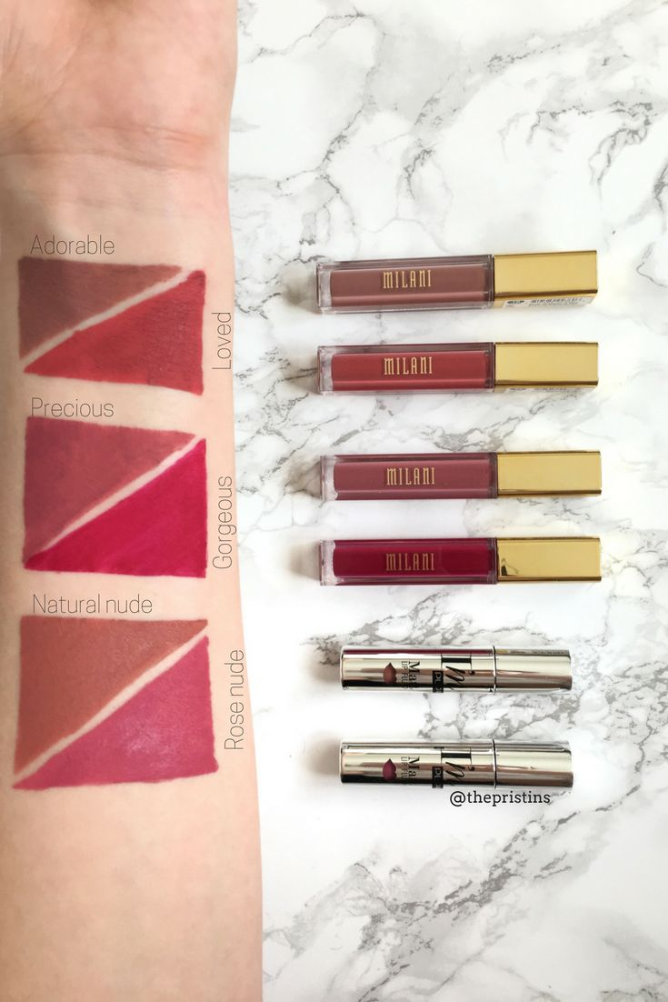 Liquid lipstick review: Pupa vs. Milani