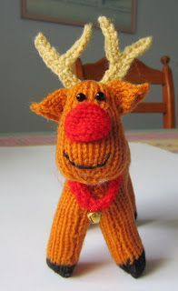 Justjen-knits&stitches: Rex The Reindeer Free Pattern - knitting with a little crochet