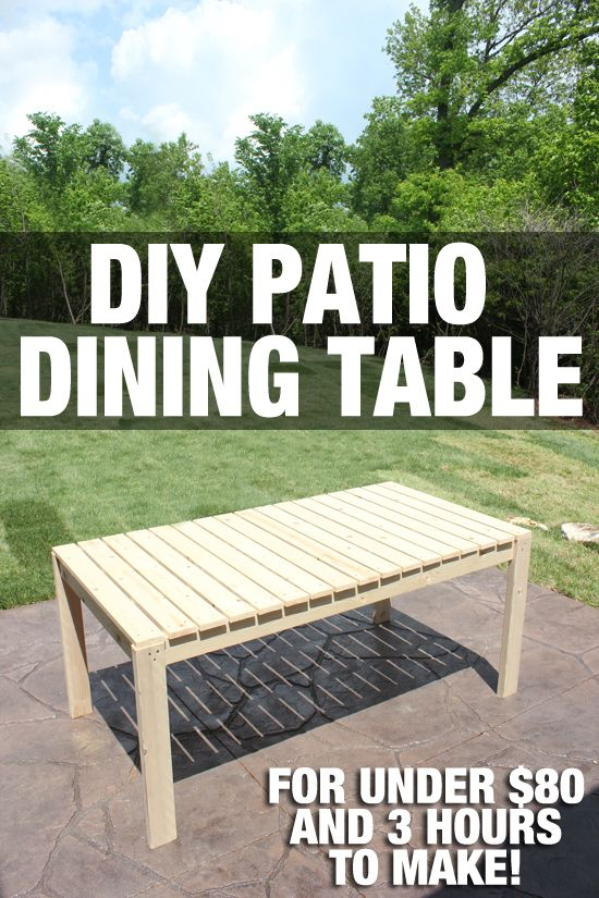 how to build a patio dining table @How to Nest for Less