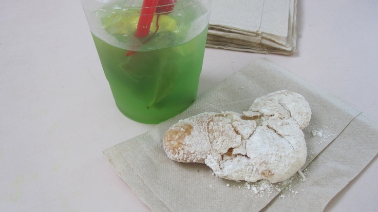 Mickey Beignets and Mint Juleps at Cafe Orleans, Disneyland! (Christians fave)