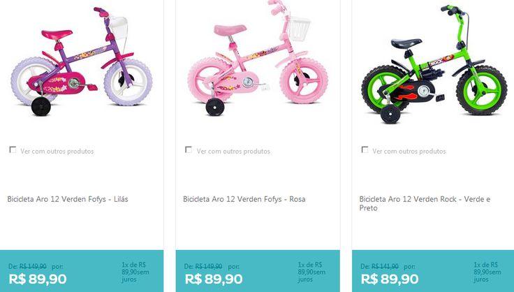 Bicicleta Aro 12 Verden - 4 cores disponíveis << R$ 8091 >>