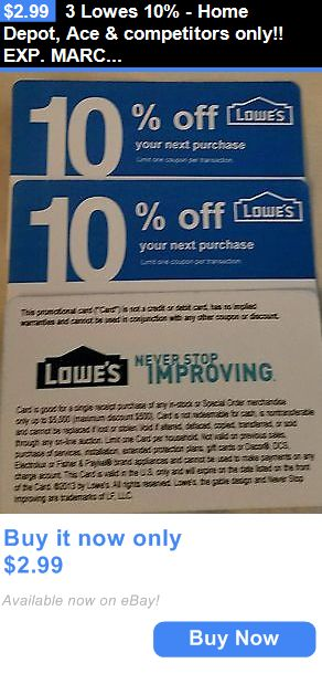 Competitor coupons at lowes