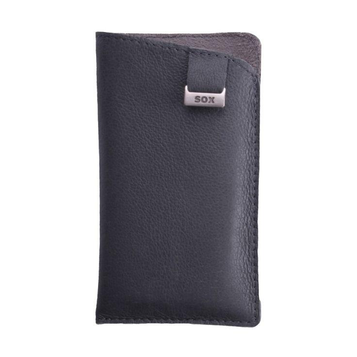 SOX Leather Light Case [Grey], Uniwersalna wsuwka na smartfon