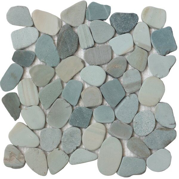 Random Sized Natural Stone Mosaic Tile In Green Stone Mosaic Tile Stone Mosaic Mosaic Tiles