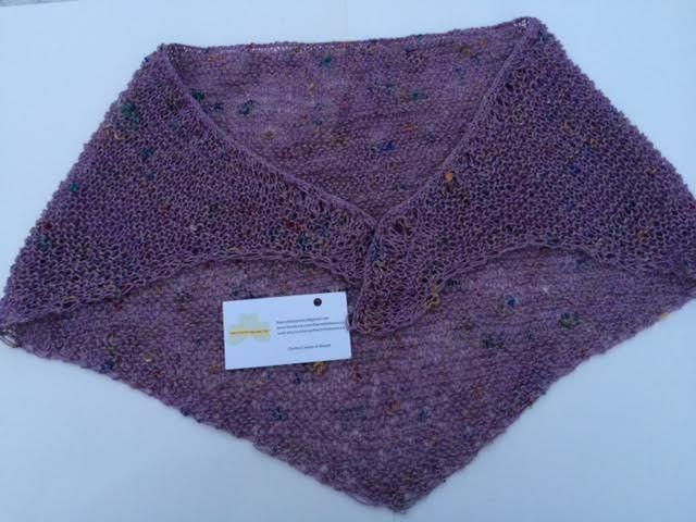 """Cotton, Neck/Shoulder Shrug, W36""""L28"""" Begére Lavender www.etsy.com/shop/TheCraftyShamrock or email thecraftyshamrock@gmail.com"""
