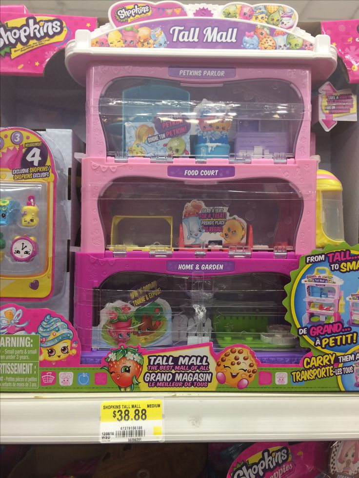 Tall mall shopkins audrey and Addie 38 walmart Canada