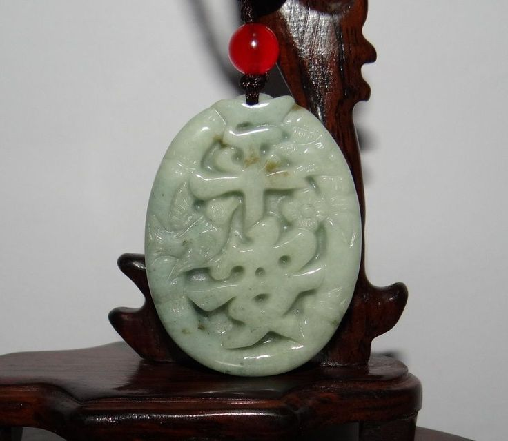 "1.9"" China Certified Nature Jadeite Hisui Jade Grade A Safety Plate Pendants"
