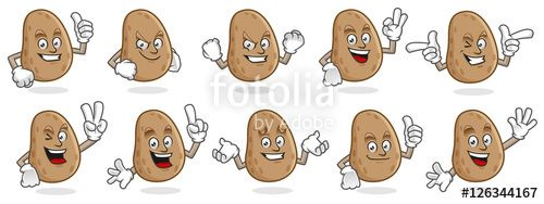 "Download the royalty-free vector ""potato mascot vector pack, potato character set, vector of potato "" designed by ednal at the lowest price on Fotolia.com. Browse our cheap image bank online to find the perfect stock vector for your marketing projects!"