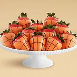 Full Dozen Basketball Strawberries. Every B-Ball fan needs to be serving this during game time!