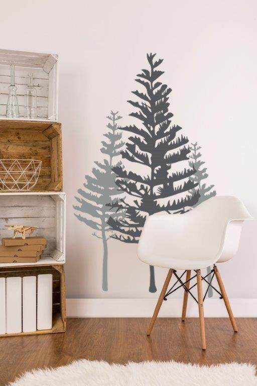 Tree Wall Decal Rustic Wall Decor Woodland by WallStarGraphics
