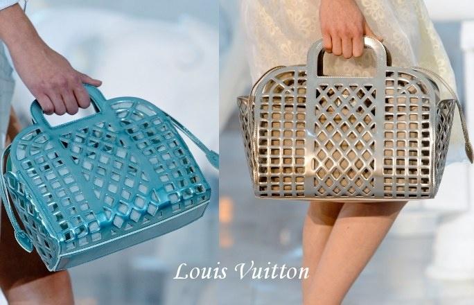 Modne torebki 2012.    Z plastiku, gumy lub innego tworzywa - polujemy na koszyczki!     Oto kolekcja Louis Vuitton