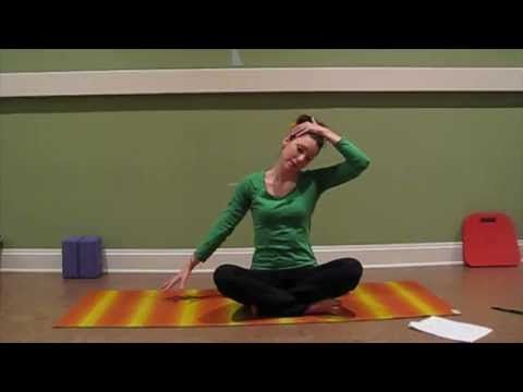 Yoga Therapy: Neck Pain - Cervical Spine alignment: LauraGYOGA - YouTube